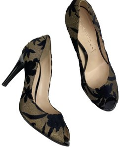 Casadei Gold and Black Pumps