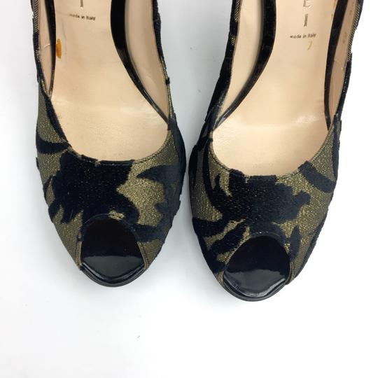 Casadei Gold and Black Pumps Image 1