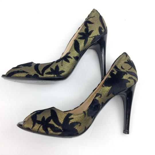 Casadei Gold and Black Pumps Image 2