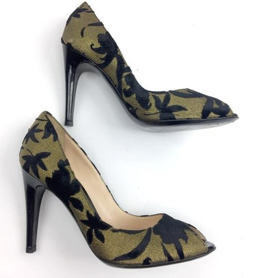 Casadei Gold and Black Pumps Image 3