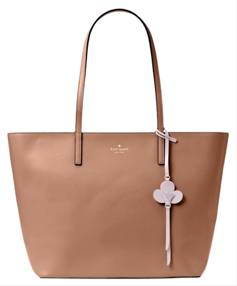 Kate Spade Bag Toasty Light Brown Smooth Leather Tote 42 Off Retail
