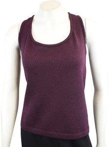 St. John Santana Knit Shell Top Plum