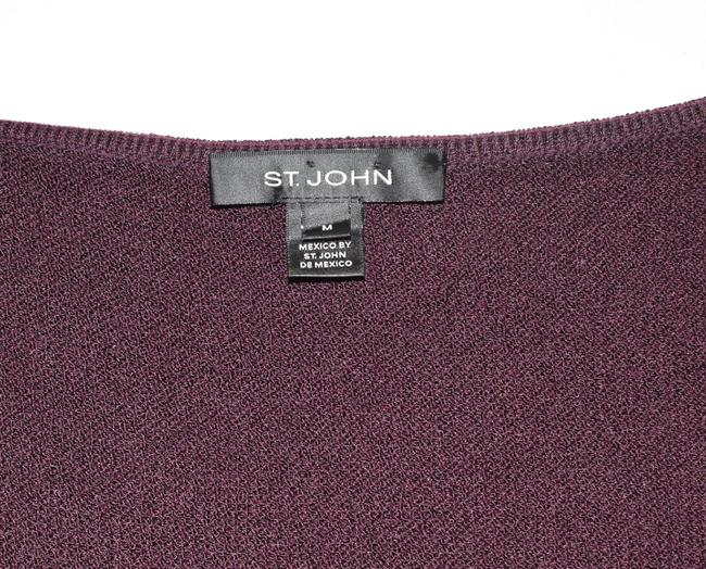 St. John Santana Knit Shell Top Plum Image 1