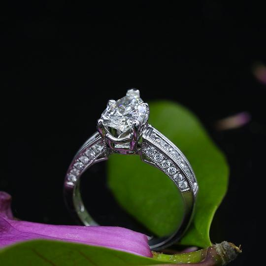 White Precious Gold with 2.57ct Tcw Engagement Ring Image 2