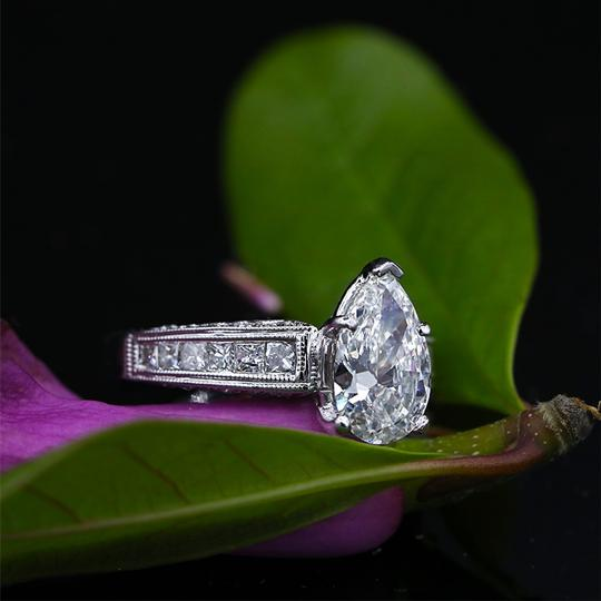 White Precious Gold with 2.57ct Tcw Engagement Ring Image 3