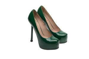 Saint Laurent Ysl Rare Custom Color green Pumps