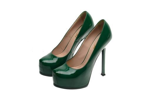 Saint Laurent Ysl Rare Custom Color green Pumps Image 1