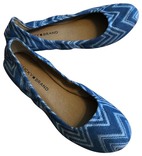 Lucky Brand Blue and White Flats Image 0