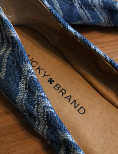 Lucky Brand Blue and White Flats Image 2