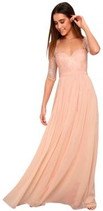 Lulu*s Sweetheart Maxi Chiffon Bridesmaid Dress