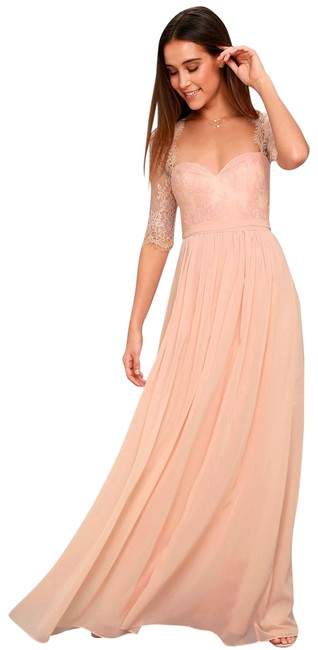 Preload https://img-static.tradesy.com/item/25375491/lulus-blush-pink-in-a-fairy-tale-lace-maxi-long-formal-dress-size-4-s-0-1-650-650.jpg