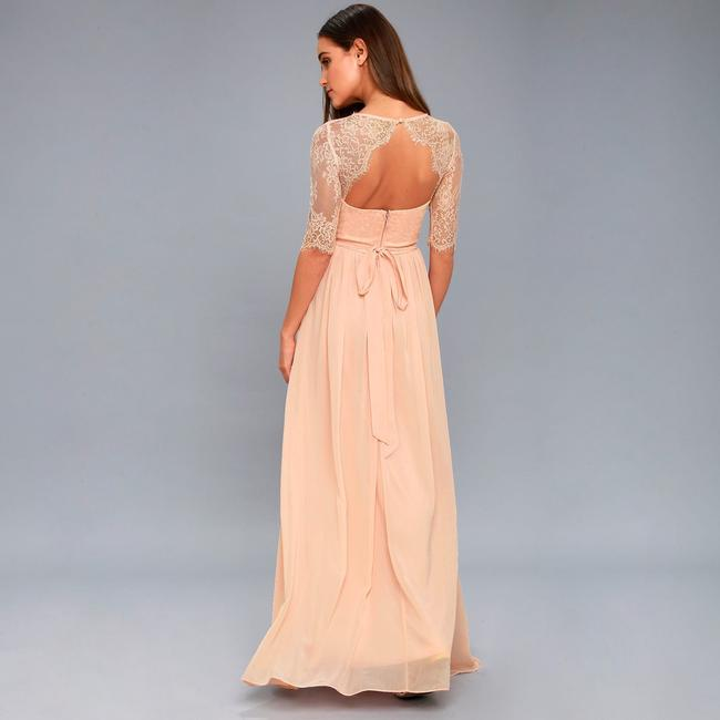Lulu*s Sweetheart Maxi Chiffon Bridesmaid Dress Image 2