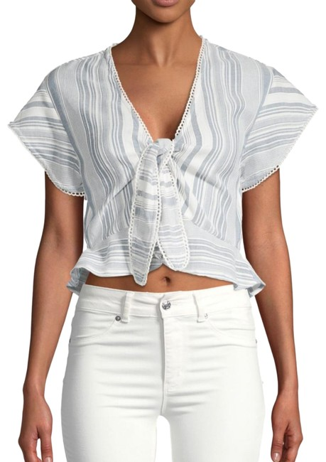 Preload https://img-static.tradesy.com/item/25375495/red-carter-blue-striped-tie-front-blouse-size-4-s-0-1-650-650.jpg