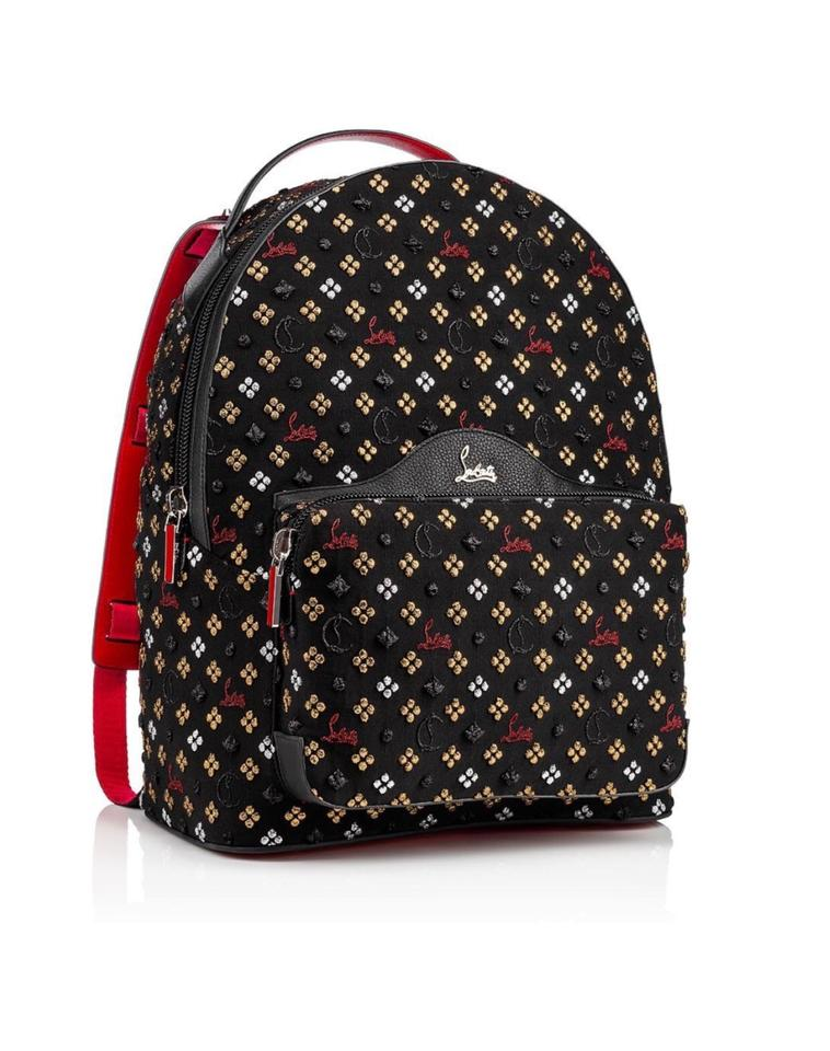 0d0a6649fe1 Christian Louboutin Backloubi Metallic Embroidered Backpack