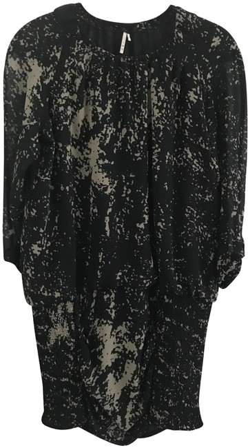 Item - Black and Tan Printed Short Night Out Dress Size 2 (XS)
