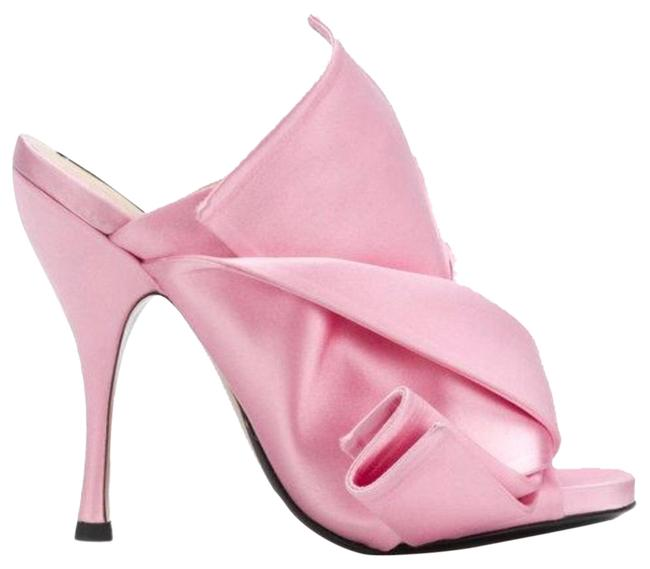 Item - Pink Nº21 Open Toe Bow Mules - Formal Shoes Size US 9 Narrow (Aa, N)