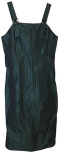 Trademark short dress Teal Satin Adjustable Straps Chrome Accents Size 8 M Medium on Tradesy