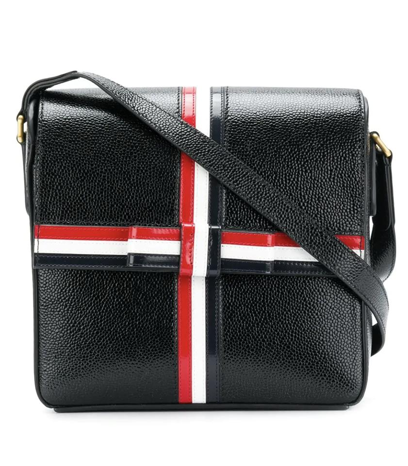 e056d5c8c8 Thom Browne Box Square Gift-box Black Pebble Lucido Leather Shoulder ...