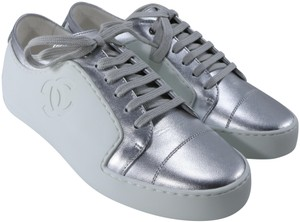 Chanel Sneakers Classic Sneakers Logo Trainers White Athletic