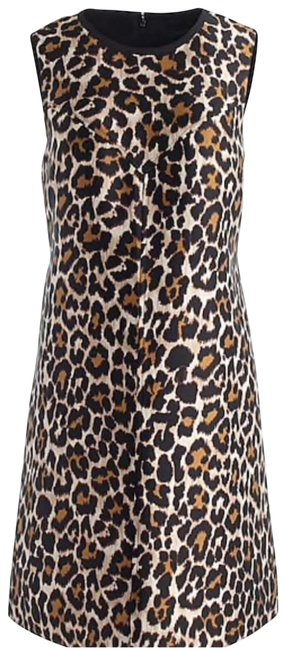 Item - Brown A-line Shift In Leopard Print Short Casual Dress Size 8 (M)