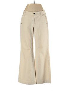 Banana Republic Chino Low Rise Cotton Boot Cut Pants Beige
