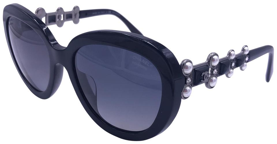0e100f6f622f Chanel Black 5334ba C.501/S8 Limited Bijou Crystals Fantasy Pearls  Polarized Sunglasses