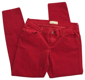 Old Navy Straight Pants Red
