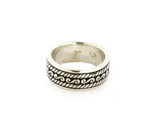 John Hardy Men's Sterling Silver 9.5mm Wide Band Ring