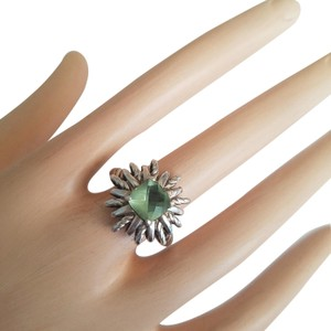 David Yurman David Yurman Sterling Silver 18mm Starburst Prasiolite Ring