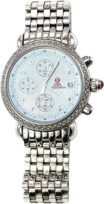 Item - Stainless Steel Csx Diamond Bezel Mother Of Pearl Watch