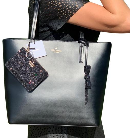 Preload https://img-static.tradesy.com/item/25377052/kate-spade-karla-seton-drive-wallet-set-black-leather-tote-0-1-540-540.jpg