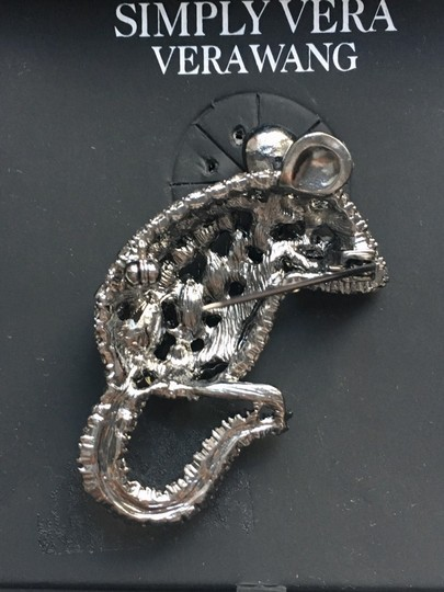 Simply Vera Vera Wang SIMPLY By Vera Wang Crystal Mouse Pin Brooch NEW Image 3