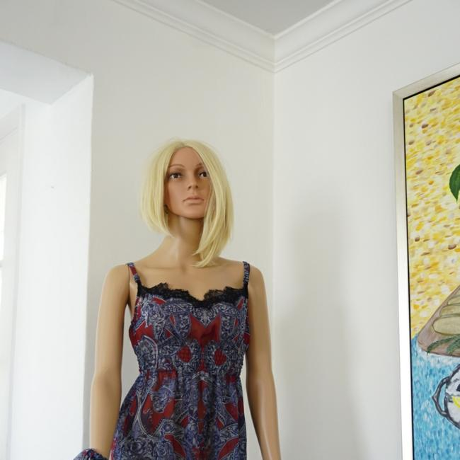 SEWN IN MY ATELIER DRESS SIZE LARGE L/ XL 100% SILK 100% VERSACE short dress Multicolor on Tradesy Image 3