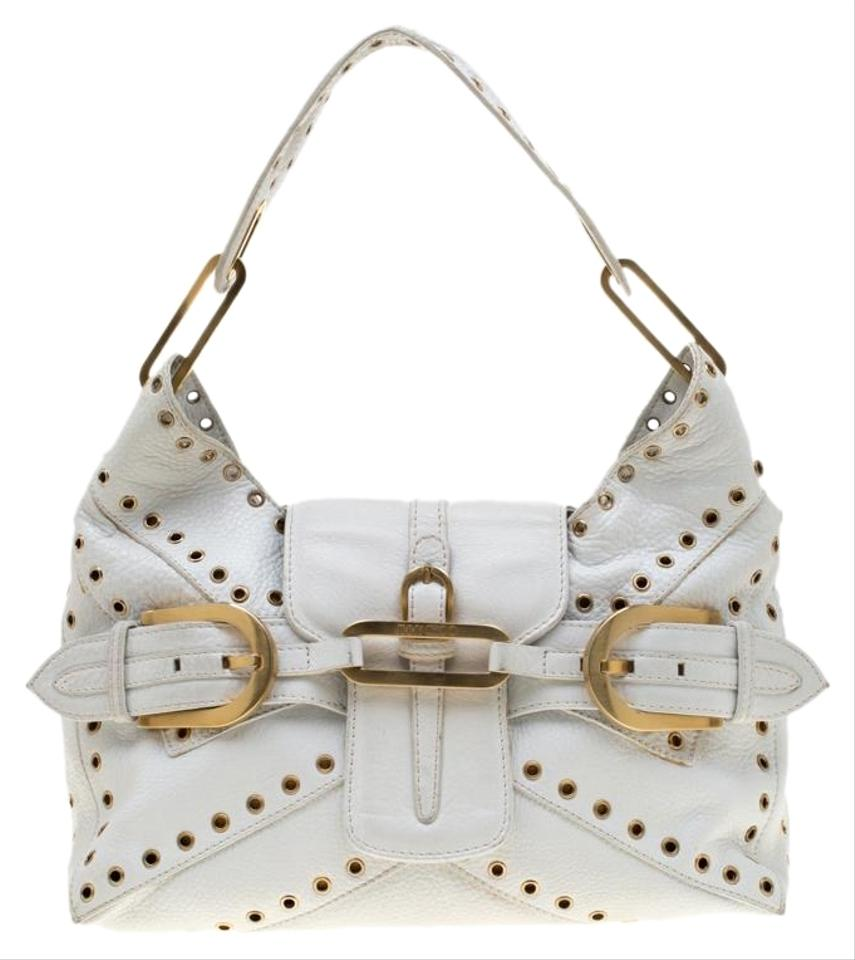 e50c2748a16 White Leather Jimmy Choo Bags - 70% - 90% off at Tradesy