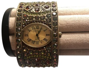 Heidi Daus Gold Cuff Watch Bracelet