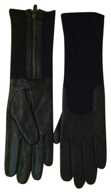 Item - Black XS Long Leather Gloves Xs/S