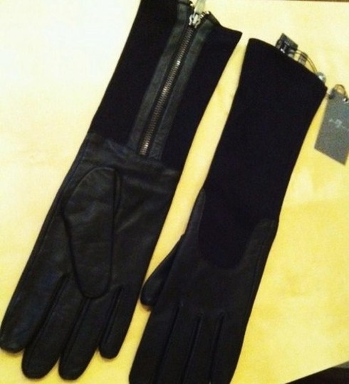 7 For All Mankind 7 FOR ALL MANKIND Long Leather Gloves sz XS/S Image 1