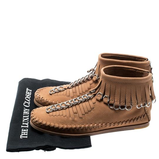 Alexander Wang Leather Suede Brown Boots Image 7