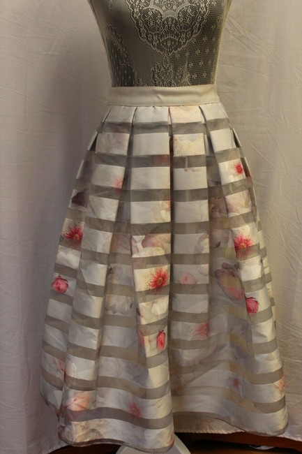 Preload https://img-static.tradesy.com/item/25377266/ted-baker-gray-silver-and-baby-pink-rosaley-chelsea-pleated-floral-tb-us-s-m-skirt-size-6-s-28-0-4-650-650.jpg