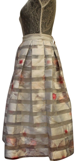 Ted Baker Niica Window Skirt gray silver and Baby Pink Image 1