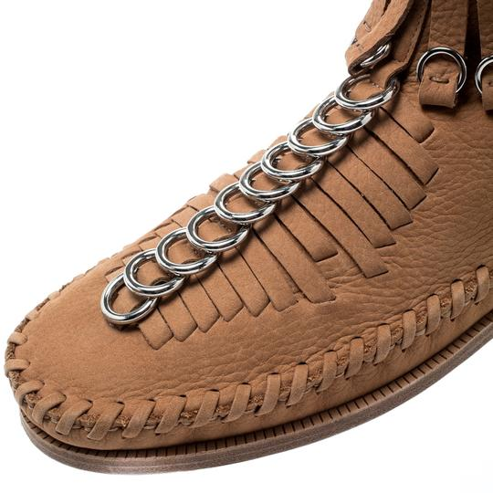 Alexander Wang Leather Suede Brown Boots Image 6