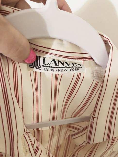 Lanvin (Vintage) short dress off white and red on Tradesy Image 3