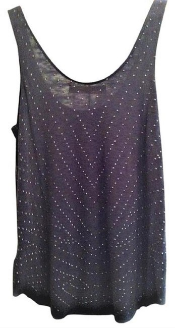 Graham & Spencer Studded With Studs Studded Grey Top Charcoal Image 1