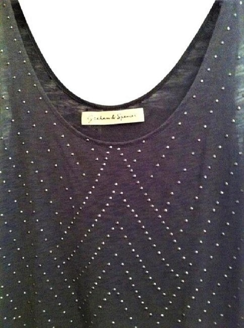 Graham & Spencer Studded With Studs Studded Grey Top Charcoal Image 2