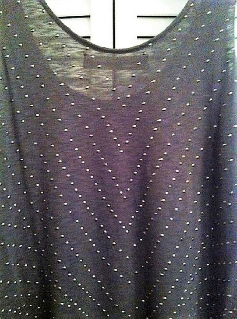 Graham & Spencer Studded With Studs Studded Grey Top Charcoal Image 3