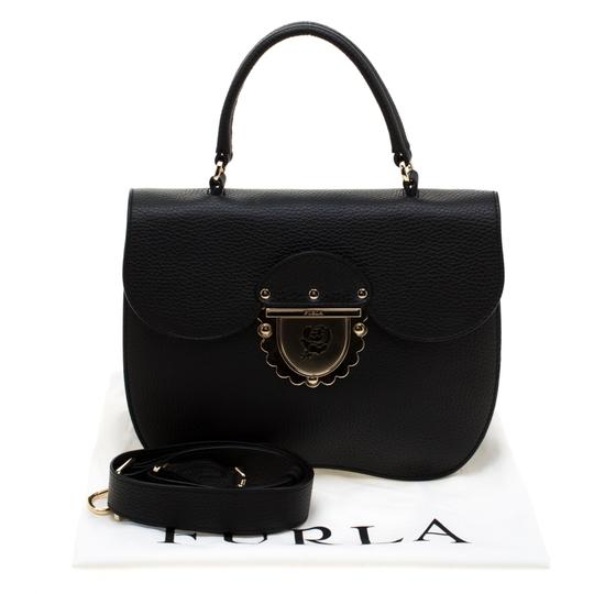 Furla Leather Suede Shoulder Bag Image 10