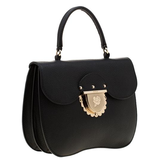 Furla Leather Suede Shoulder Bag Image 5