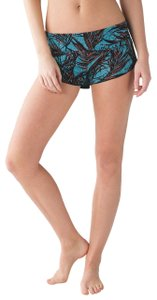 Lululemon Reversible Surf Short / Teal Palms and Black Board Shorts UPF 50+