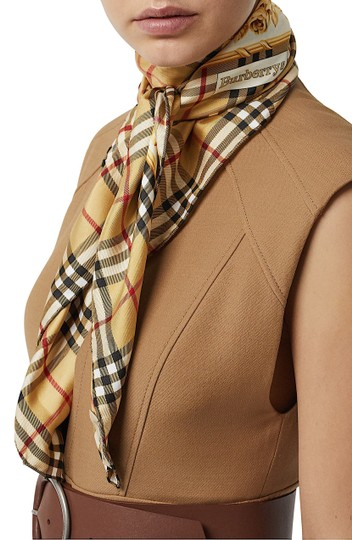 Burberry Check & Roses Square Silk Scarf Image 4