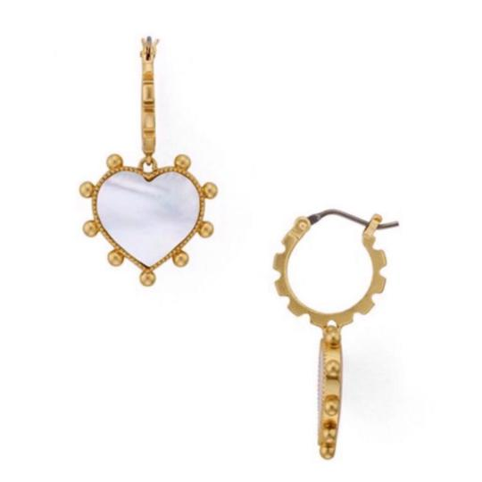 Tory Burch Mother Of Pearl Heart Image 3